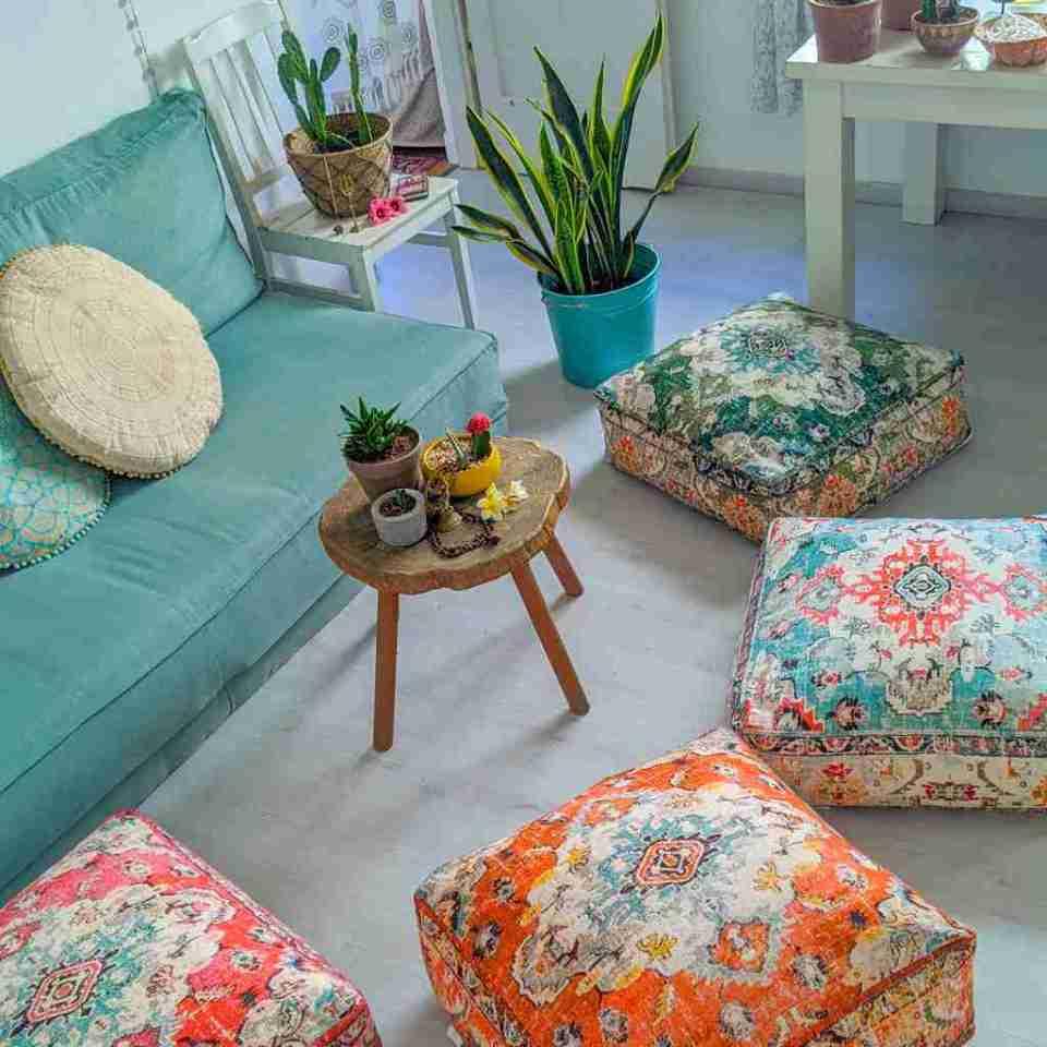 Orange Vintage Floor Cushion 5