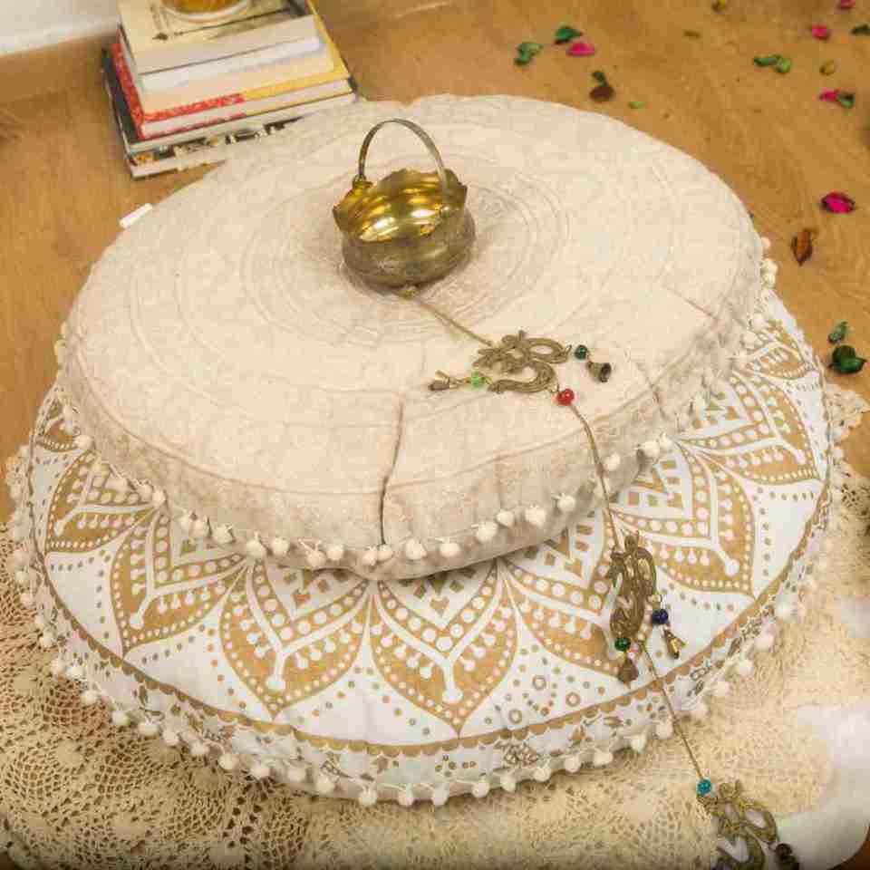 bohemian floor pillow mandala round cushion pouf 11