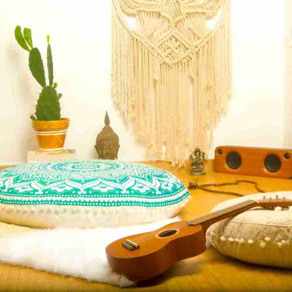 bohemian floor pillow mandala round cushion pouf 14
