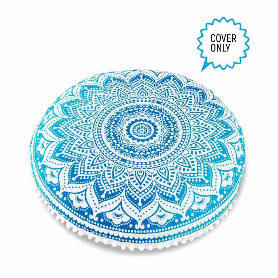 bohemian floor pillow mandala round cushion pouf 5