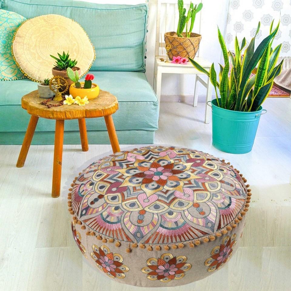 Bohemian Floor Cushion Pouf