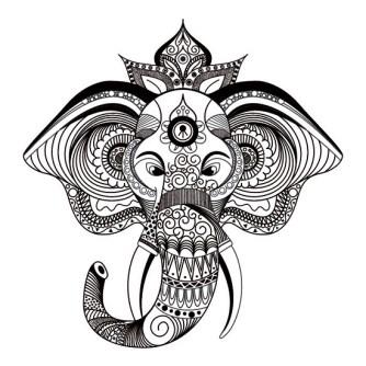Mandalas de Animales Elefante