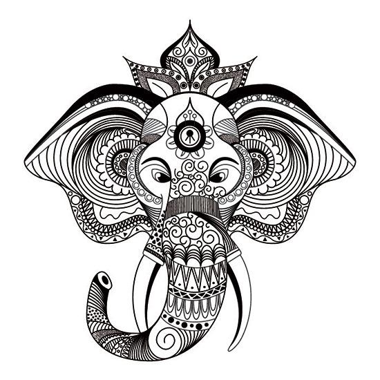 Mandala De Elefante on Dibujos Kawaii Para Colorear