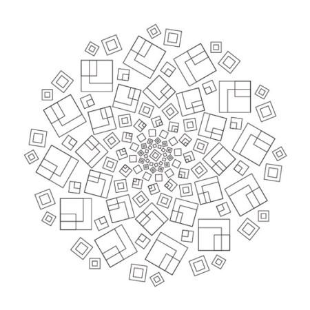 Mandala Geométrico Abstracto de Cuadros