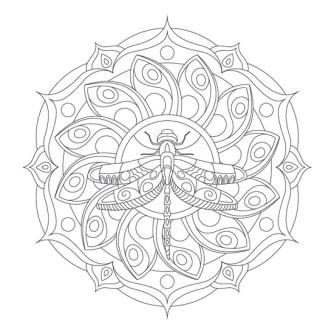 mandala de libélula