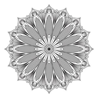 mandala floral para colorear