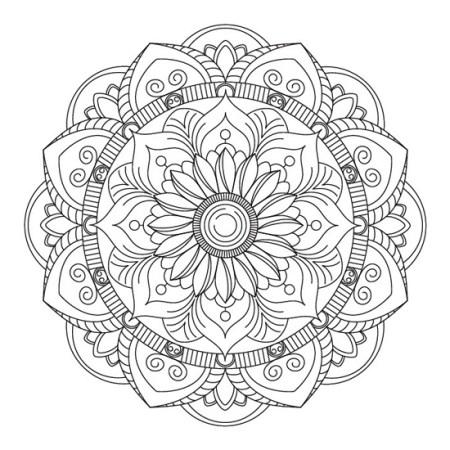 Mandala Loto Floral