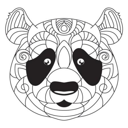 mandala de oso panda