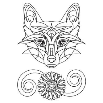 mandala de zorro para imprimir
