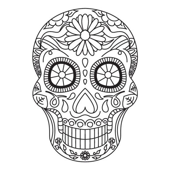 Mandala De Calavera Mexicana Para Imprimir Pdf Gratis