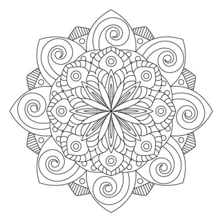 mandala de flores