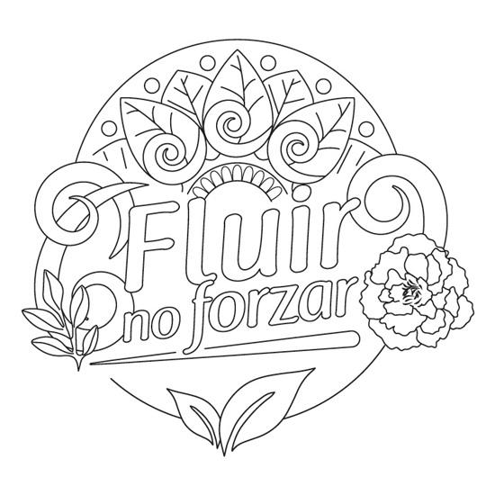 Mandala Con Frases Para Imprimir Y Colorear Gratis Fluir