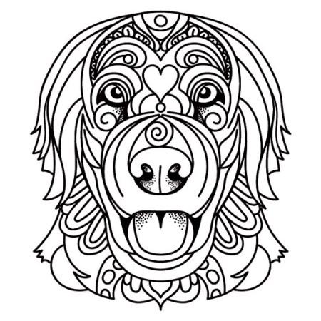 Mandala de Perro Golden Retriever