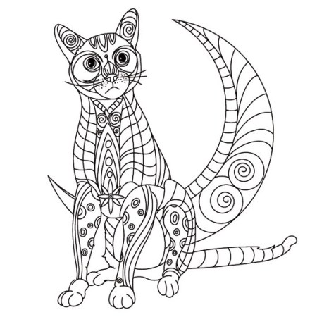 Mandala de Gato y Luna