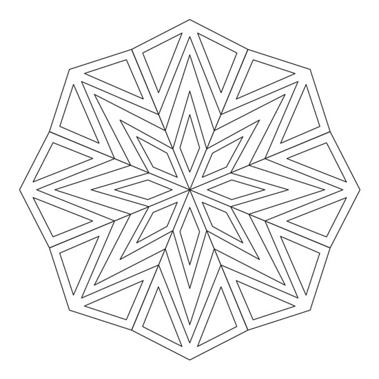 mandalas de triángulos geométrico