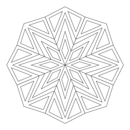 mandalas para colorear de triángulos geométrico