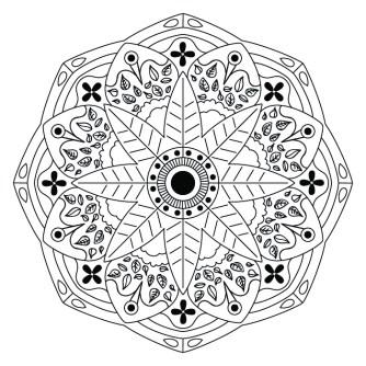 Mandala Floral de Hojas