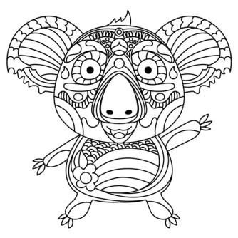mandala de koala
