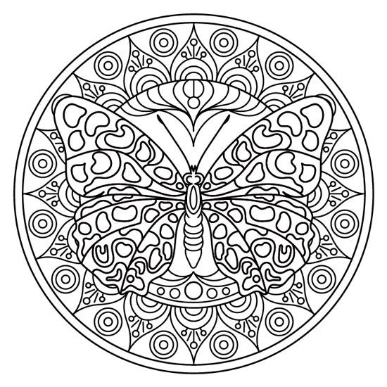 mandala de mariposa