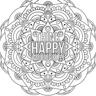 Mandala Happy Thoughts
