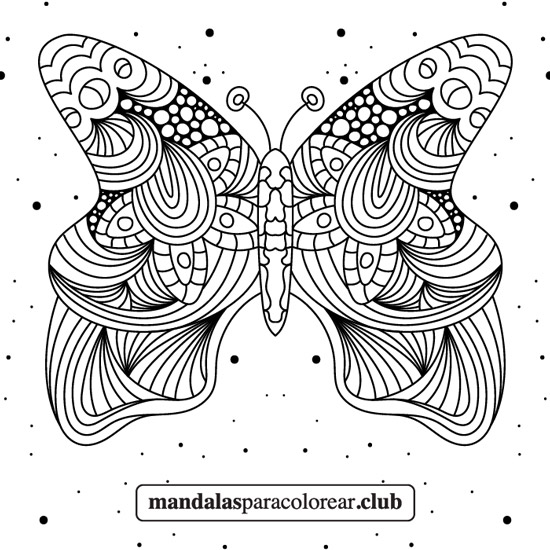 mandala de mariposa zentangle