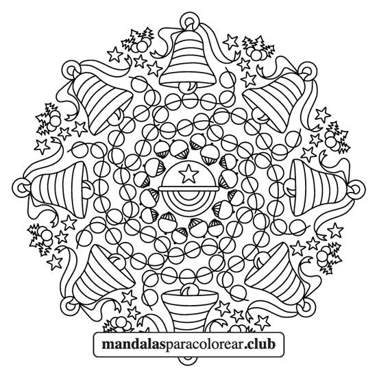 Mandala de Campanas de Navidad