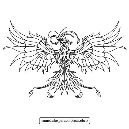 mandala de ave fénix