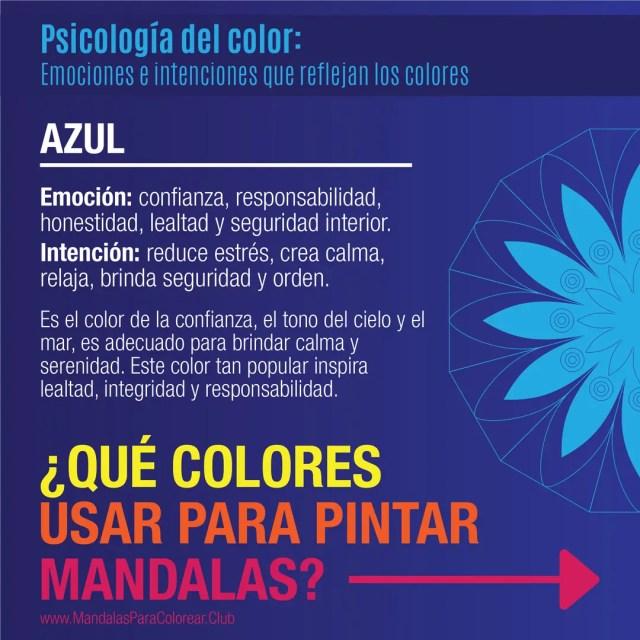 Significado de los Colores para Colorear Mandalas - Azul