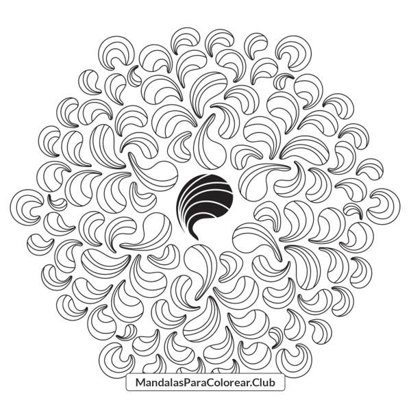 Mandala de Ondas Abstractas