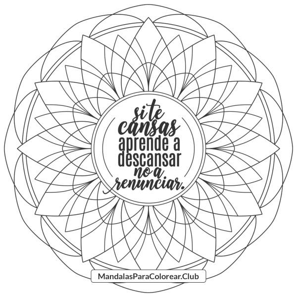 Mandala con Frase de Inspiración