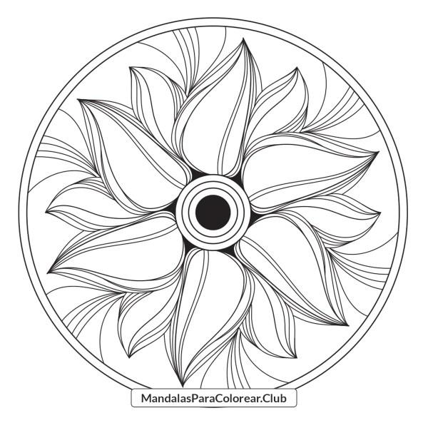 Mandala de Flor de Fuego