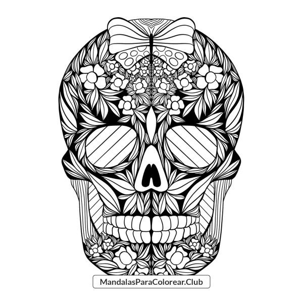 Mandala de Calavera estilo Zentangle Art