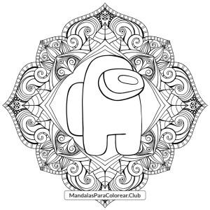 Mandala de Among Us para Colorear
