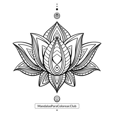 Flor de Loto estilo Zentangle para descargar en PNG y JPG