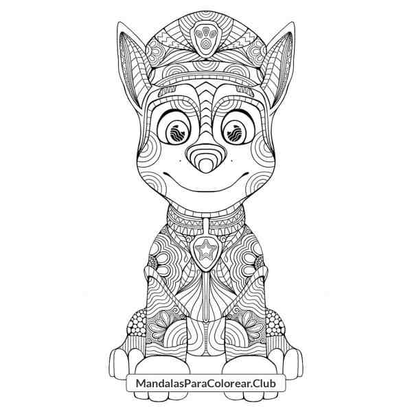 Mandala de Paw Patrol Zentangle Art