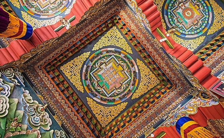 Mandala en Templo Budista