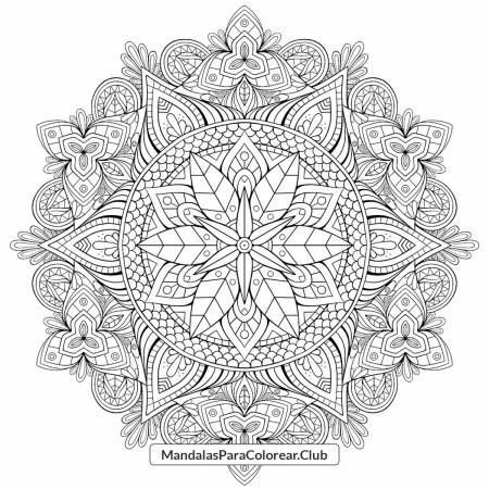 Mandala Floral Zentangle