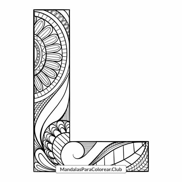 Mandala Letra L Zentangle