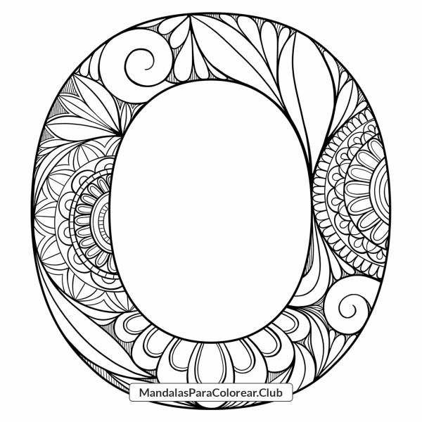 Mandala Letra O Zentangle