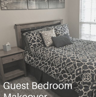Guest Room Makeover - www.mandamorgan.com #makeover #houseproject #guestbedroom