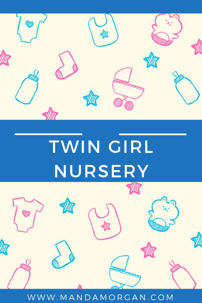 Twin Girl Nursery - www.mandamorgan.com #nurserytour #twins #twingirls
