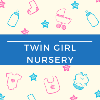 Twin Girl Nursery - www.mandamorgan.com #nurserytour #twins #twingirls