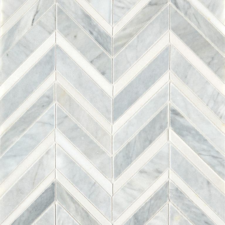 alps honed polished chevron marble mosaic