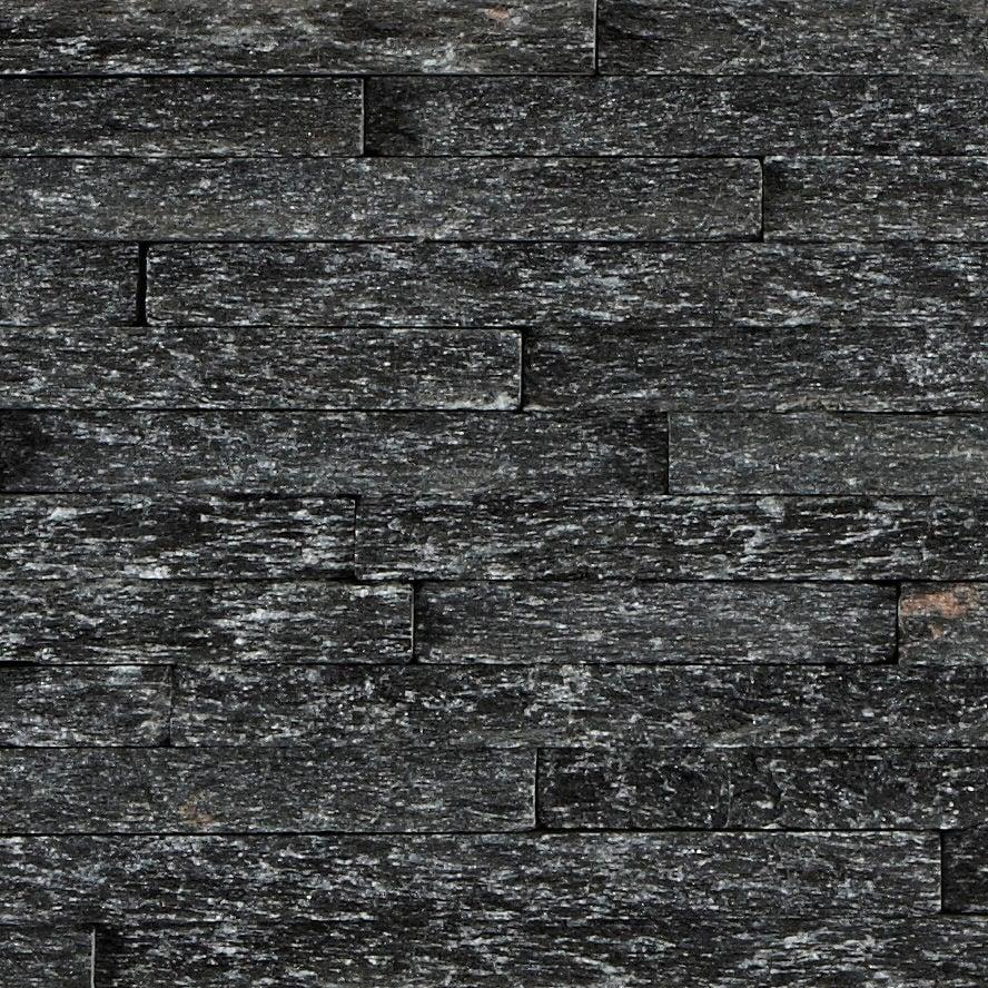 black quartzite mini splitface tile mandarin stone