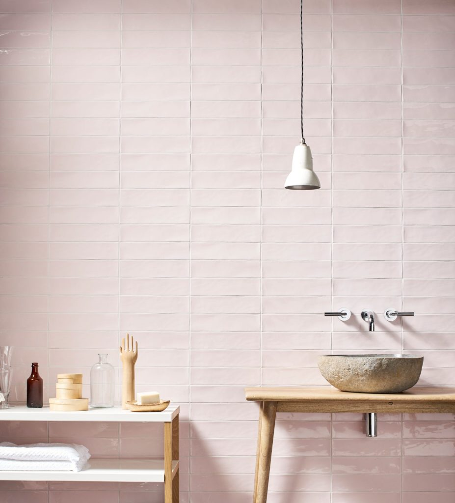 Gelato Rose Gloss Decorative Collection Tiles Mandarin Stone