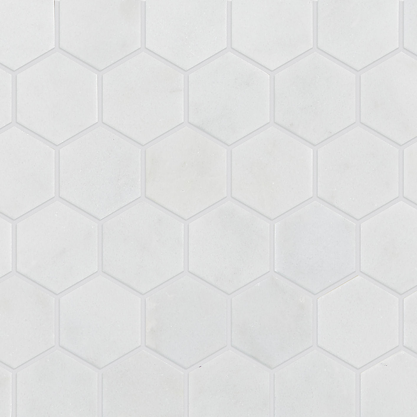 calacatta honed marble hexagon mosaic tile mandarin stone