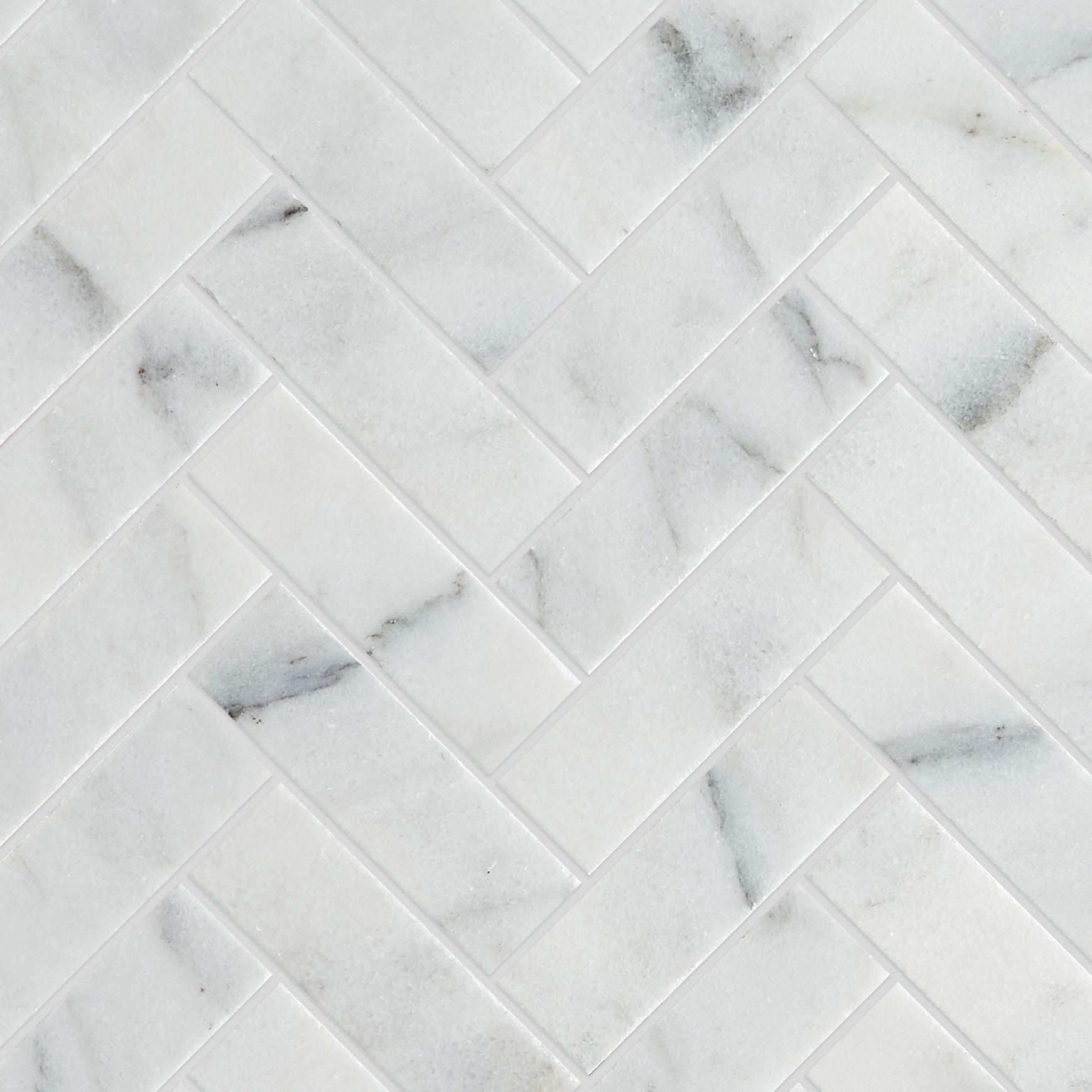 calacatta vein honed marble herringbone mosaic tiles mandarin stone