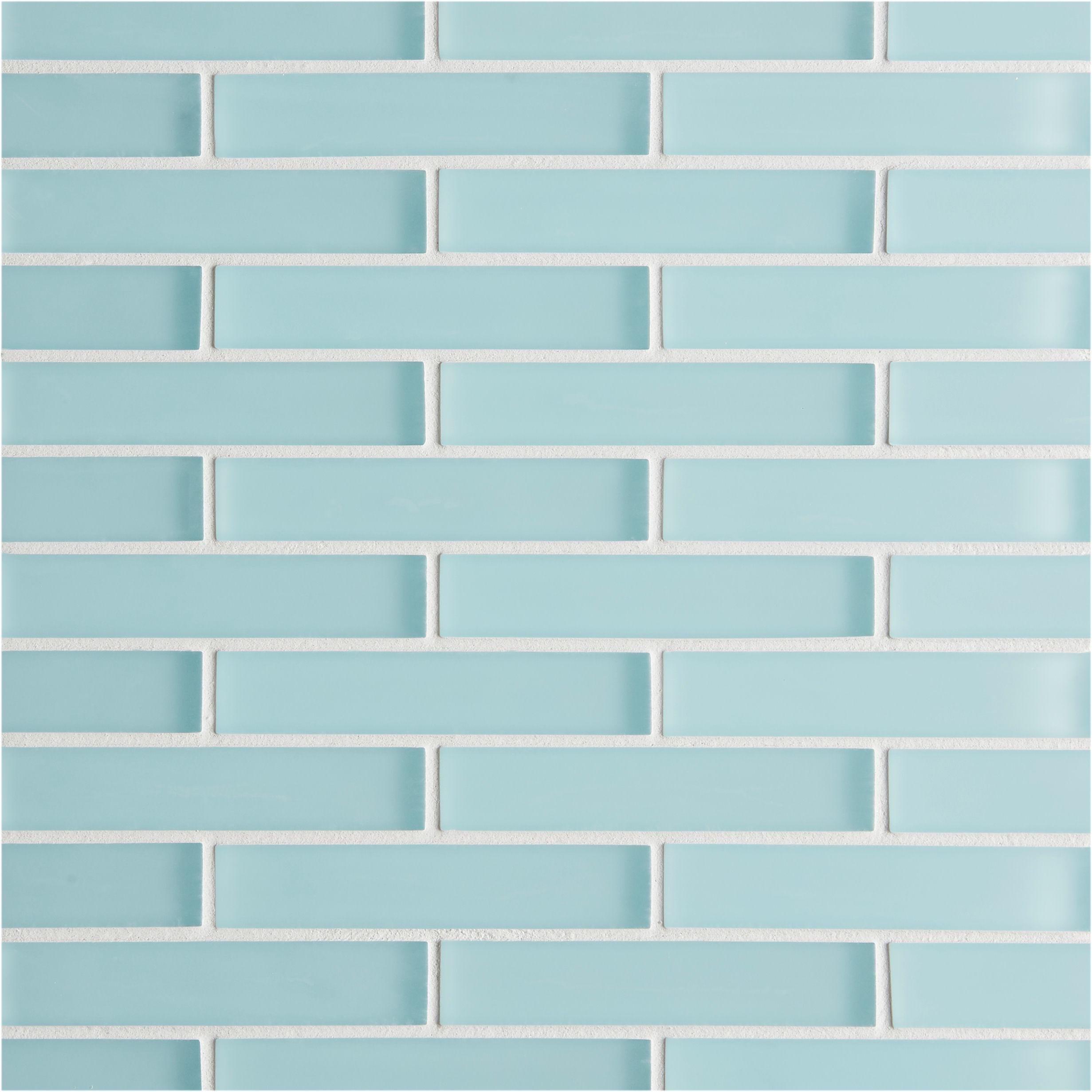 glacier blue glass brick mosaic tile mandarin stone