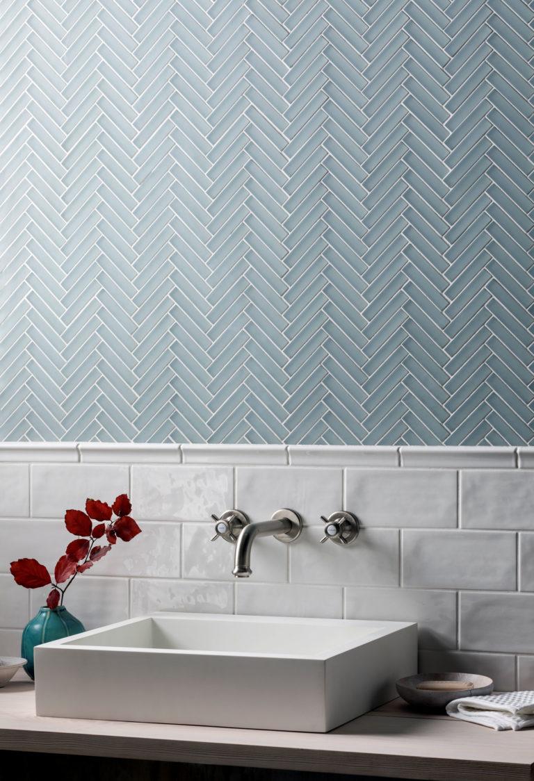 creating herringbone tile patterns our