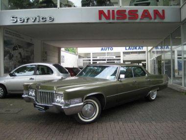 NOUVEAU +++ Cadillac Véhicule ancien: Cadillac Deville 7.7 v8 Sedan 1970 4 Dr für 18490 € +++ Les meilleures offres   Berline, 100112 km, 1970, Essence, 379 CV, Vert   131082921   auto.de